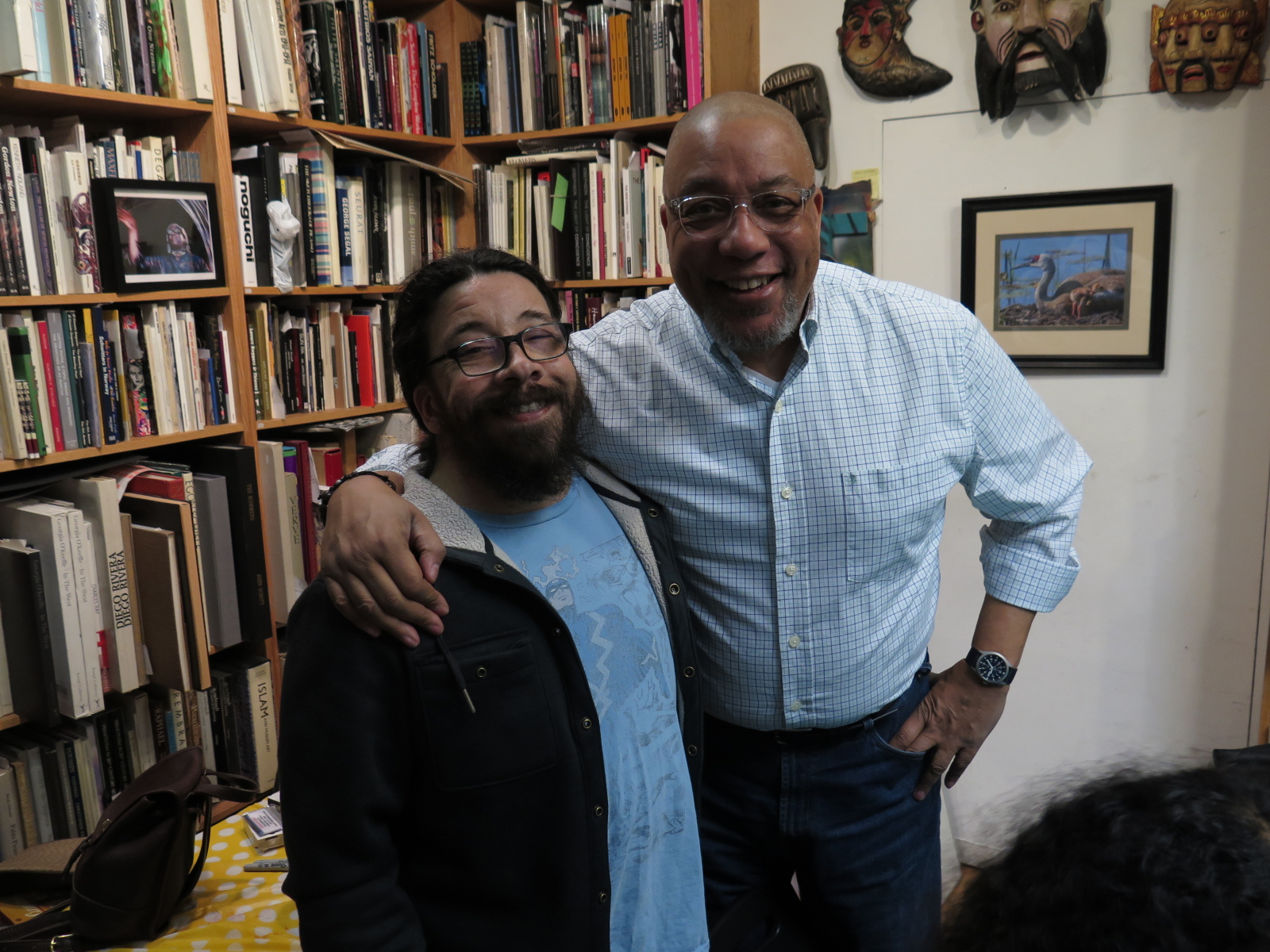 Author and graphic novelist Saladin Ahmed meets with Stephen Mack Jones.