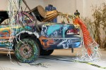 "Car with auto play drums, from ""Vision in a Cornfield"", photo by Corrine Vermeulen, 2012"