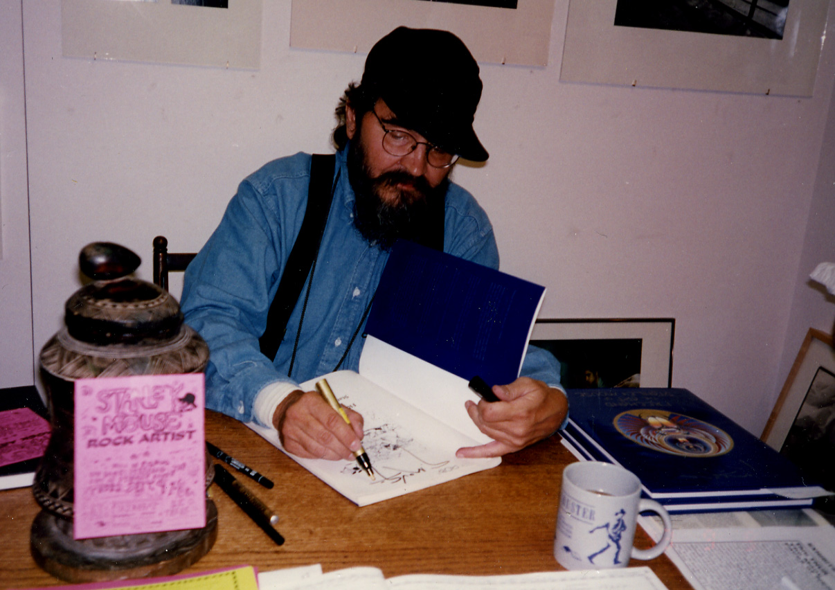 Artist Stanley Mouse book signing