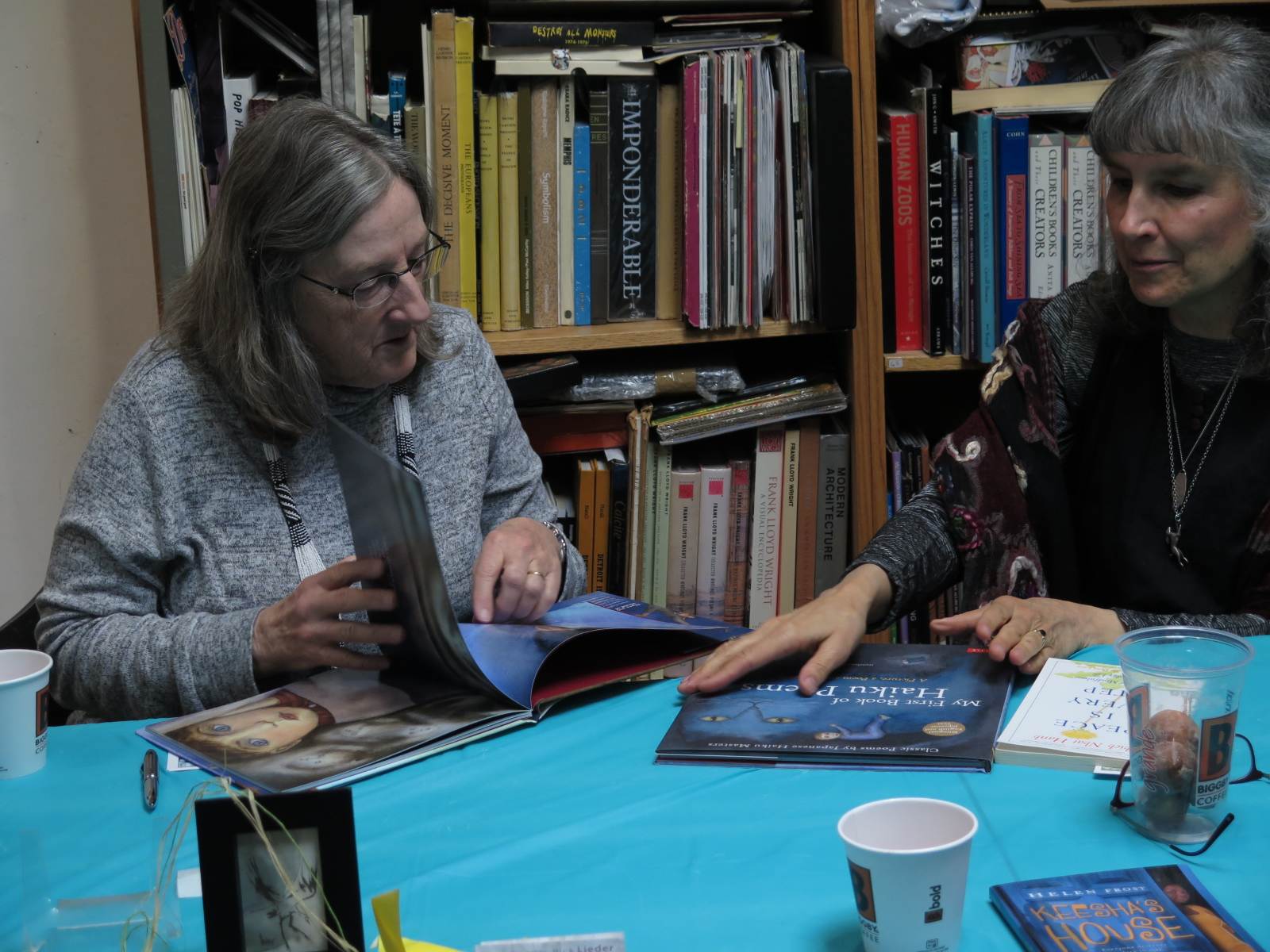 Poet and author Helen Frost & artist Tracy Gallup.