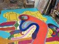 Kevin Weeder's fabulous floor mural.