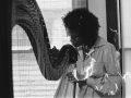 Jazz harpist by Leni Sinclair.